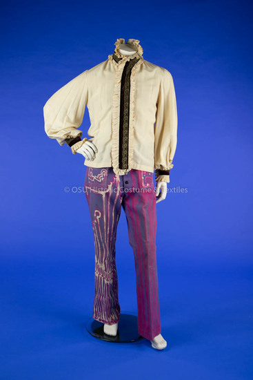 1960s Hand-Painted Men's Pants