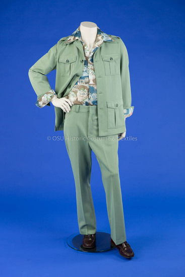 1970's Man's Green Leisure Suit