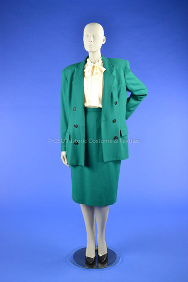 Dior Double-Breasted Green Suit