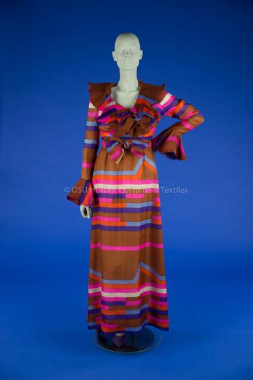 Bill Blass Multi-Colored Striped Dress