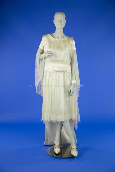1922 Silk Satin and Lace Wedding Dress