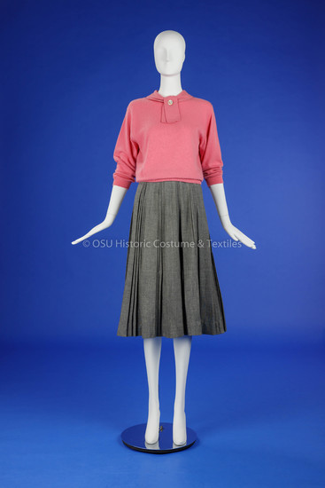 1950s Cashmere Sweater and Wool Skirt