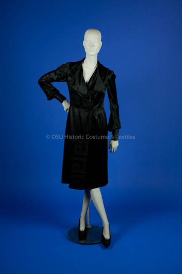 Paquin, Black Silk Wrap Dress