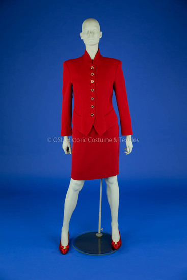 Feraud Red Skirt Suit