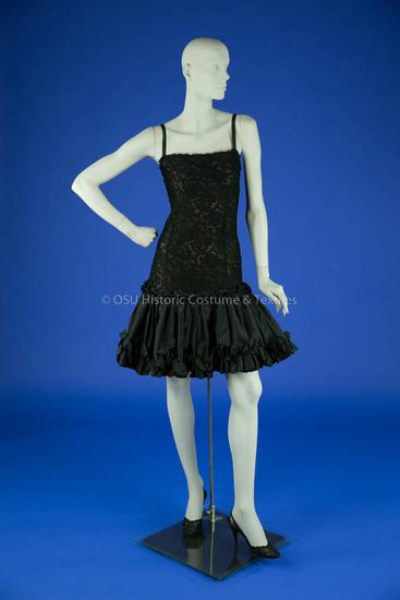 De La Renta Black Lace Dress