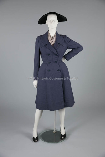 Dior Navy Wool Coatdress