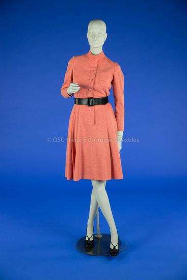 Geoffrey Beene Orange Wool Dress