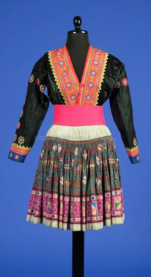 Hmong (Blue) or Miao Woman's ensemble