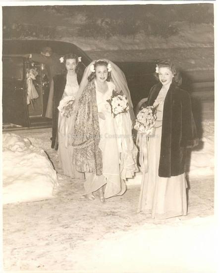 1945 Rayon Wedding Dress