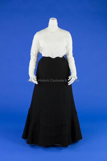 Shirtwaist and Wool Walking Skirt