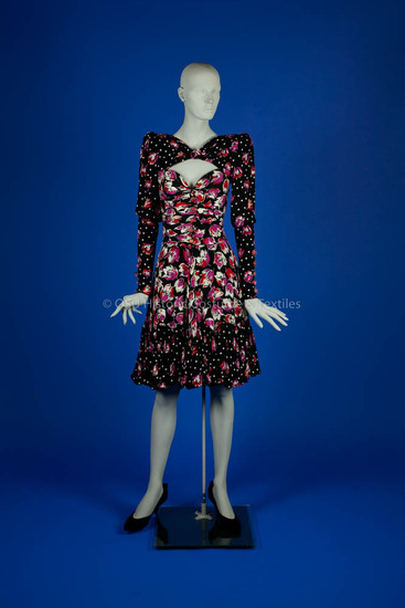 Ungaro, Emanuel Black Floral Silk Dress