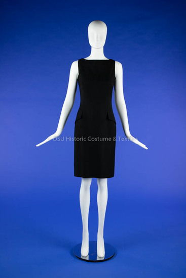 Dior Black Wool Sheath Dress