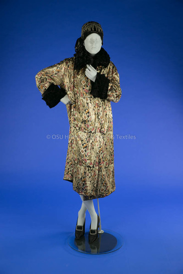 1920s Gold Lame Wrap Coat