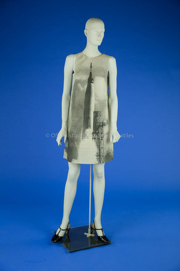1960s Paper Dress with Rocket Motif