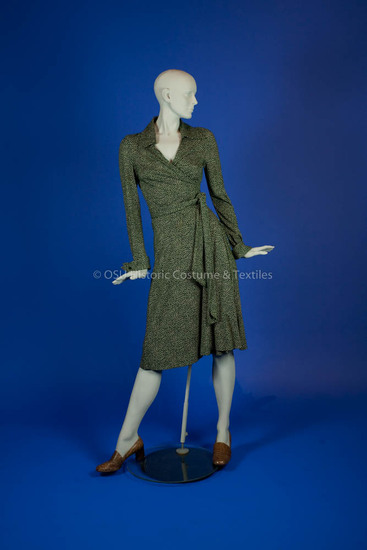 Von Furstenberg, Diane; Green/White Knit Dress