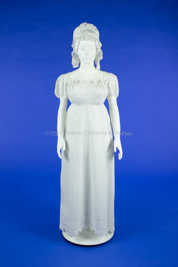 Apron-Front White Cotton Dress