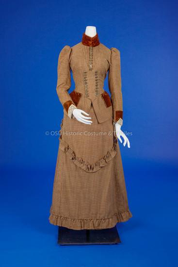Brown & White Check Dress