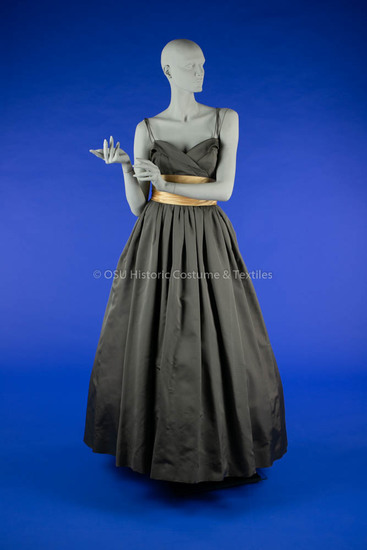 1950s Dior Gray Evening Gown