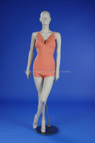 1930's Pink Wool Bathing Suit