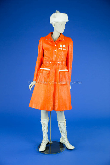 Courrèges, André; Orange Vinyl Coat