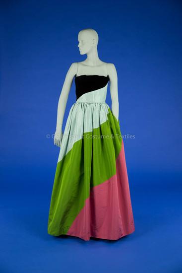 Bill Blass, Multi-Colored Evening Gown
