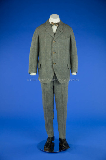 1920s Man's Blue/White Houndstooth Suit