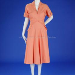 Orange/White Striped McCardell Day Dress