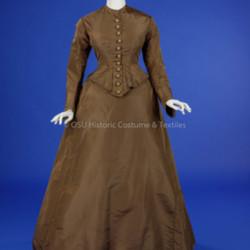 Brown Silk Day Dress