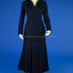 1915 Navy Wool Walking Suit