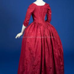 1770-1780. Red Silk Open Robe
