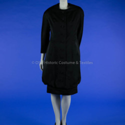 YSL for Dior Black Satin Dress