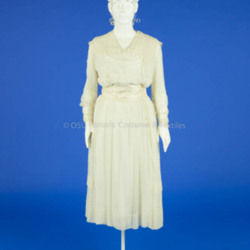 1917 Crepe Wedding Dress