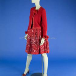 Adolfo Red Skirt Ensemble