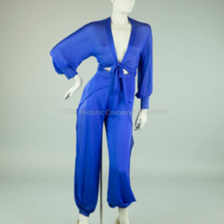 Oleg Cassini Blue Harem Pant and Top