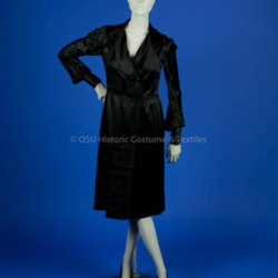 Paquin, Black Silk Wrap Dress