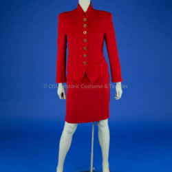 Feraud Red Skirt Suit