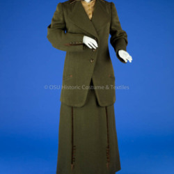Brown Wool Woman's Tailor Made Suit