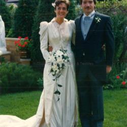 Sarah Wilson Johnston 1986 Wedding Dress.JPG