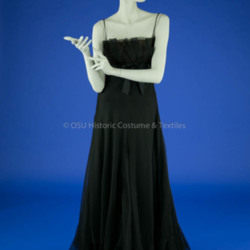 Geoffrey Beene Black Organza Dress