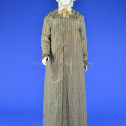 1797-1810 Striped Silk Dress