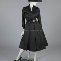 1948 Black Silk Christian Dior Dress