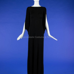 Black Knit Dior Dress with Fringe