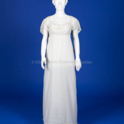 1800-1809, White embroidered cotton dress