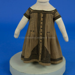 1868 Boy's Brown Wool Dress
