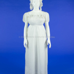 Apron-Front White Cotton Dress
