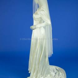 1941 Ivory Satin Wedding Dress