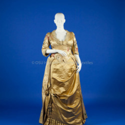 Worth, Charles Frederick; Yellow Silk Gown