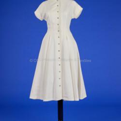 1950s White Pique Dress