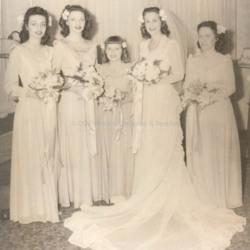 1945 Rayon Bridesmaid Dress
