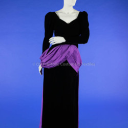 Dior Black Velvet and Purple Satin Dress